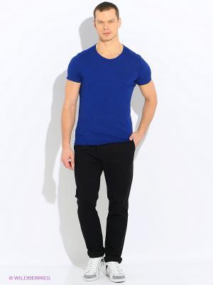 Футболка Sisley. Цвет: синий, темно-синий