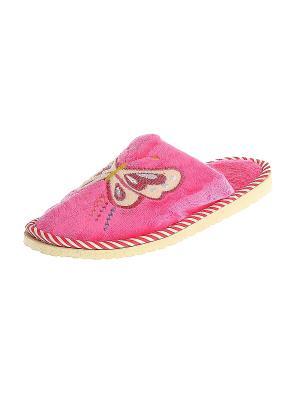 Тапочки домашние женские Migura. Цвет: розовый, желтый, белый, синий, красный