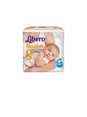 Libero Подгузники детские Ньюборн мини 3-6кг 26шт упаковка маленькая. Цвет: белый