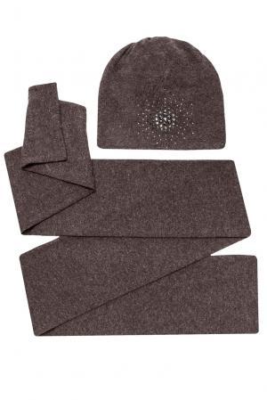 Комплект из шерсти с кристаллами Swarovski (шапка и шарф) 154766 Anna Jollini