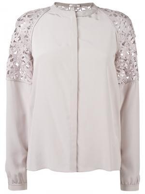 Полупрозрачная рубашка на пуговицах Dorothee Schumacher. Цвет: серый