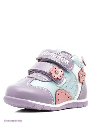 Ботинки Flamingo. Цвет: лиловый, розовый, бирюзовый