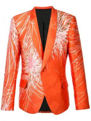 Пиджак с изображением цветка Haider Ackermann. Цвет: жёлтый и оранжевый