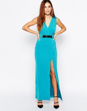 Binky Платье макси for Lipstick Boutique Aldgate. Цвет: синий