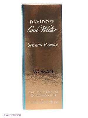Парфюмерная вода Cool Water Sensual, 30 мл DAVIDOFF. Цвет: золотистый