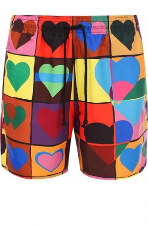 Плавки-шорты с принтом J.W. Anderson. Цвет: разноцветный