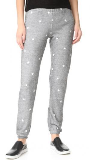 Спортивные брюки Football Star из прожженного флиса Wildfox. Цвет: прожженный меланжевый