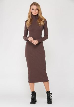 Платье Verna Sebe. Цвет: коричневый