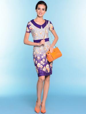 Платье ARBOR VITAE. Цвет: фиолетовый, белый