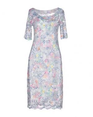 Платье до колена OLVI'S. Цвет: грифельно-синий