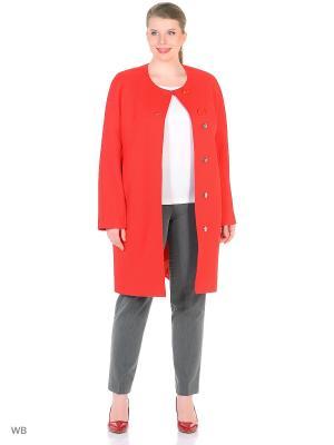 Пальто FORTUNA. Цвет: красный