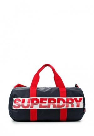 Сумка спортивная Superdry. Цвет: синий