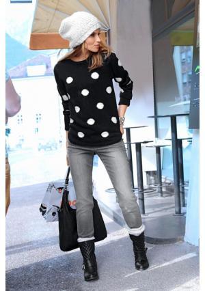 Пуловер Aniston. Цвет: черный/белый