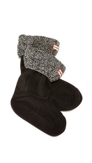 Носки с отделкой в виде косичек под короткие ботинки Hunter Boots. Цвет: черный/серый