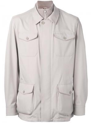 Куртка с накладными карманами Loro Piana. Цвет: телесный