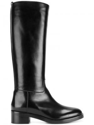 Ботинки на низком каблуке Sartore. Цвет: чёрный