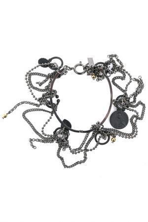 Браслет Jean Paul Gaultier. Цвет: серый