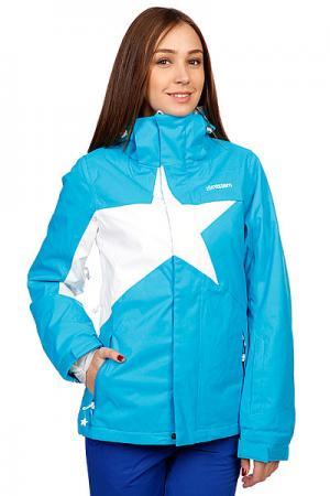 Куртка женская  Snow Jacket Snowy Women Blue/White Zimtstern. Цвет: голубой