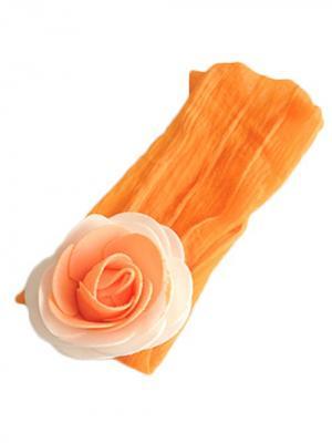Повязка для волос Роза City Flash. Цвет: оранжевый, белый