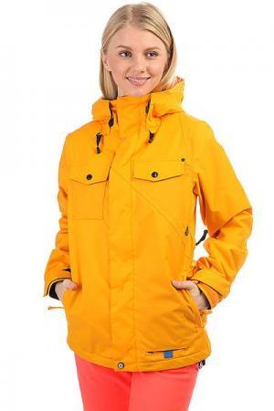 Куртка утепленная женская  Genera Insulated Jacket Orange Burst Volcom. Цвет: оранжевый
