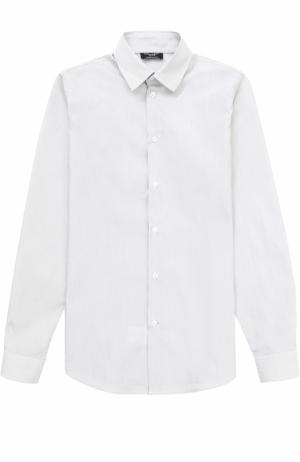 Хлопковая рубашка в мелкую полоску Dal Lago. Цвет: серый