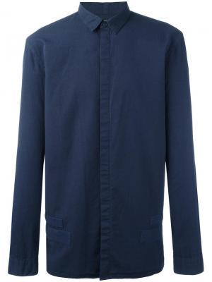 Рубашка Tape Helmut Lang. Цвет: синий