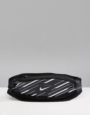 Nike Running Небольшая черная сумка-кошелек на пояс 360 RL.95-037B. Цвет: серый