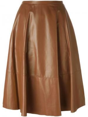 Юбка с панельным дизайном Drome. Цвет: коричневый