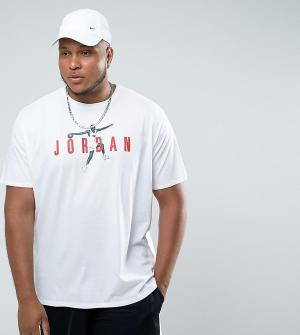 Jordan Белая футболка Nike PLUS Modern 2 908436-101. Цвет: белый