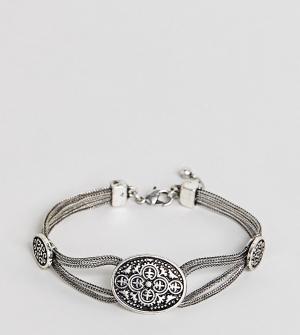 Reclaimed Vintage Серебристый браслет-цепочка с филигранным узором Ins. Цвет: серебряный