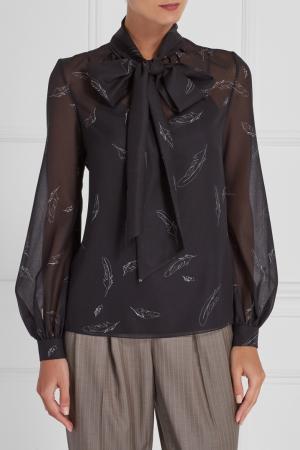 Блузка с контурным принтом A LA RUSSE. Цвет: черный