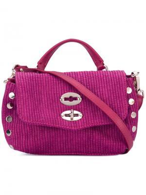 Сумка-тоут Zanellato. Цвет: розовый и фиолетовый