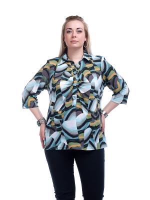 Блузка OLSI. Цвет: серый, голубой