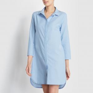 Рубашка LOVE JOSEPHINE. Цвет: светло-синий джинсовый