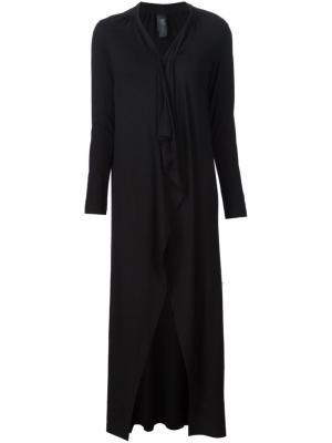 Длинное пальто-кардиган Zero + Maria Cornejo. Цвет: чёрный