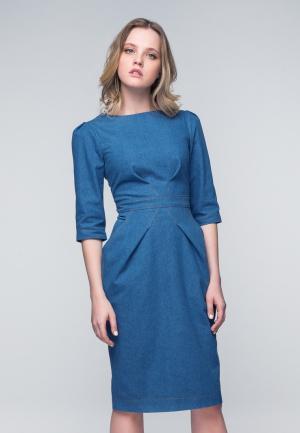 Платье джинсовое Masha Mart. Цвет: голубой