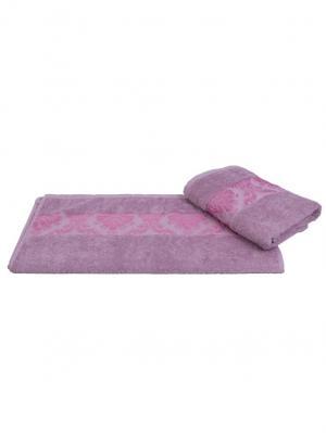 Махровое полотенце 100x150 RUZANNA, лиловый, 100% хлопок HOBBY HOME COLLECTION. Цвет: лиловый
