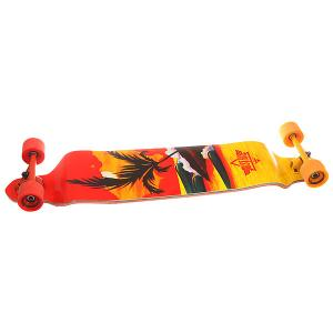 Лонгборд  Thirds Drop-down Longboard Red/Yellow 9.75 x 41.25 (105 см) Dusters. Цвет: красный,оранжевый,мультиколор
