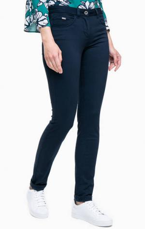 Зауженные синие брюки TOM TAILOR. Цвет: синий