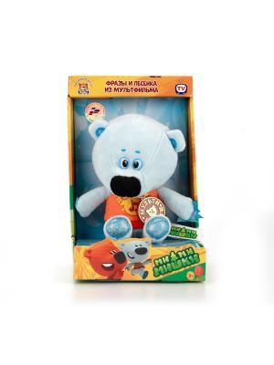Мягкая игрушка Мульти-Пульти медвежонок Белая Тучка 20 см, озвученный.. Цвет: светло-голубой, оранжевый