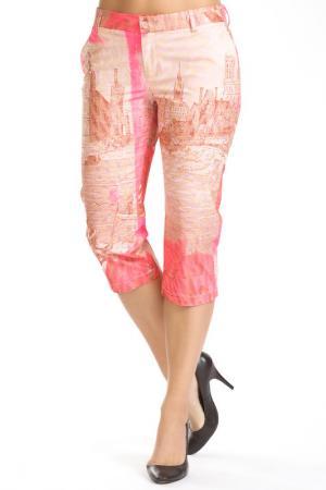 Три четверти брюки Custo Barcelona. Цвет: розовый