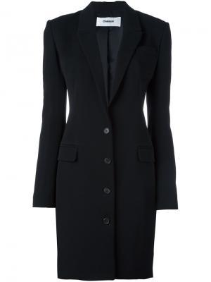 Приталенный удлиненный пиджак Chalayan. Цвет: чёрный