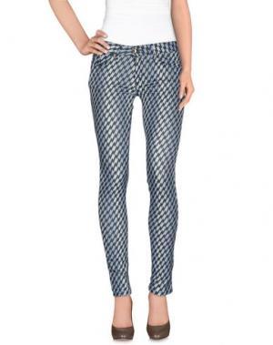 Повседневные брюки HANNY DEEP. Цвет: небесно-голубой