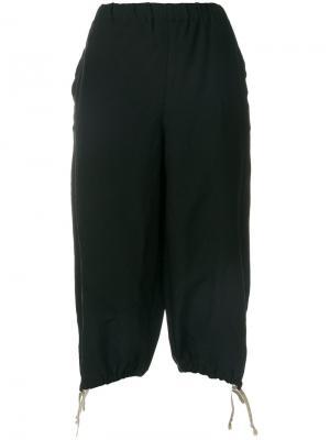 Укороченные брюки со шнурком Comme Des Garçons Girl. Цвет: чёрный