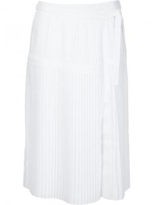 Плиссированная юбка Mayumi Altuzarra. Цвет: белый