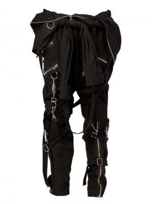 Брюки-карго с декоративными рукавами Faith Connexion. Цвет: чёрный