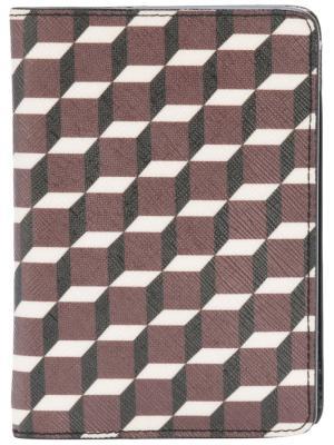 Обложка для паспорта с геометрическим принтом Pierre Hardy. Цвет: красный