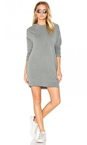 Платье-свитшот с капюшоном Stateside. Цвет: серый
