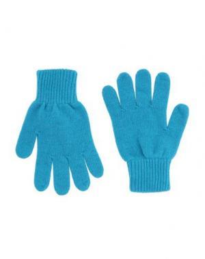 Перчатки DONDUP. Цвет: лазурный
