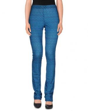 Повседневные брюки MEM.JS. Цвет: синий
